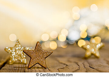 Christmas background with stars and christmas glitter