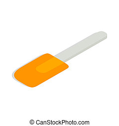 Spatula icon, isometric 3d style - Spatula icon in isometric...