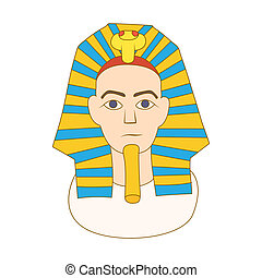 Egyptian pharaoh icon, cartoon style - icon in cartoon style...