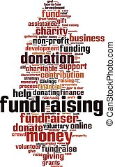 Fundraising-vertical.eps - Fundraising word cloud concept....