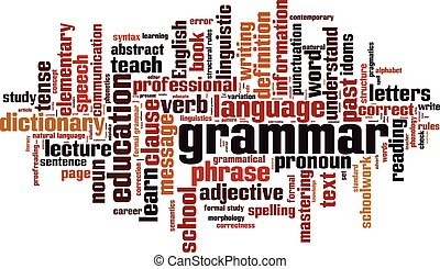 Grammar.eps - Grammar word cloud concept. Vector...