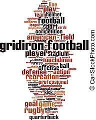 Gridiron football-vertical.eps - Gridiron football word...