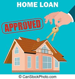 home loan approved concept