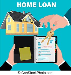 home loan application concept,