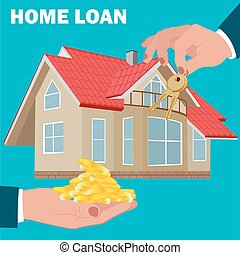 home loan concept, mortgage, flat