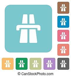 Flat highway symbol icons