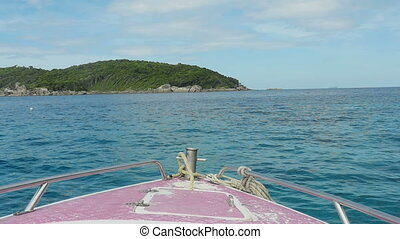 Similan Islands seascape - View of the Similan Islands from...