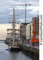 Sailing Ship - Dublin - Ireland - The sail training ship...