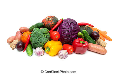 healthy food: fresh ripe vegetables close-up.