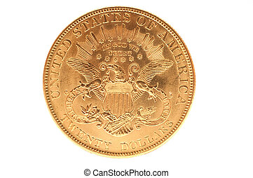 American double eagle gold coin - Reverse of united states...