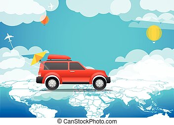 Take Vacation travelling concept Flat design illustration