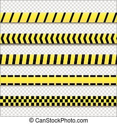 Police tape Vector - Police cordon yellow caution tape...