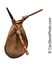 bagpipe from Scotland - close-up of bagpipe from Scotland...