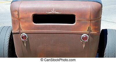 Stock car racer. - Stock car racer displayed outdoors.