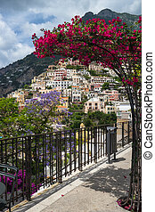Coast of Amalfi. beautiful Positano view for your design