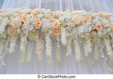 decoration of flowers for the wedding ceremony