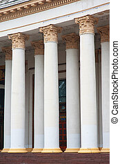 architectural columns on a facade