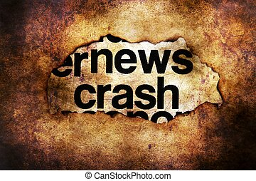 News crash grunge concept