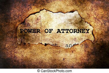Power of attorney paper hole