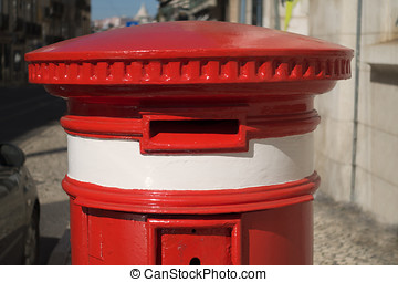 Portuguese Red Letter Box - A classic red letter box in...