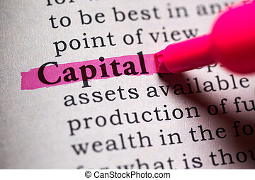 capital - Fake Dictionary, Dictionary definition of the word...
