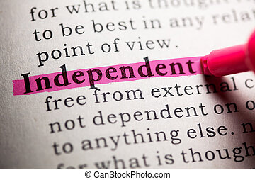 independent - Fake Dictionary, Dictionary definition of the...
