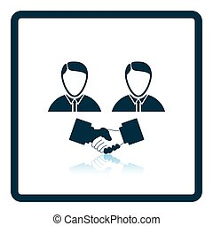 Hand shake icon Shadow reflection design Vector illustration...