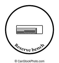 Baseball reserve bench icon Thin circle design Vector...
