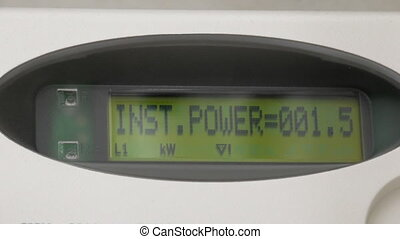 Electric smart meter display - Electric domestic smart meter...