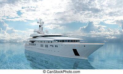 Cruiser - 3D CG rendering of a cruiser