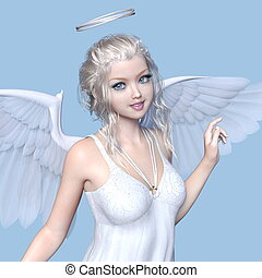 Angel - 3D CG rendering of an angel