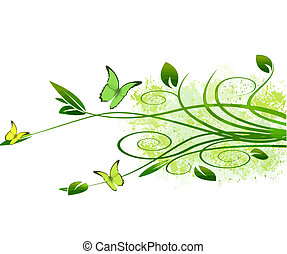 abstract foliage background vector