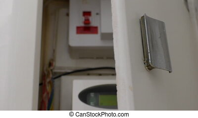 Recessed smart electric meter box - White domestic recessed...