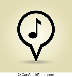 symbol of music isolated icon design