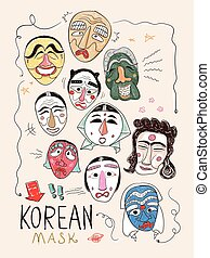 Korea masks collection