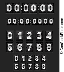 Wall flipping clock and set of numbers. - Wall flipping...