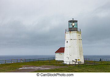 Lighthouse at Cape Spear Newfoundland - The new lighthouse...