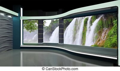 News TV Studio Set -179 - News TV Studio Set 179- Virtual...