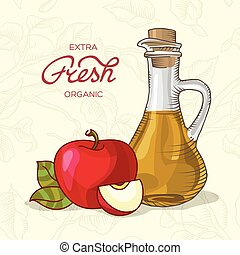 Extra fresh organic apple juice - Decanter of Apple Juice...