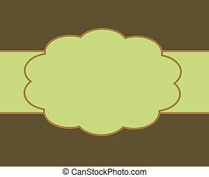 Brown and Green Card Background Template