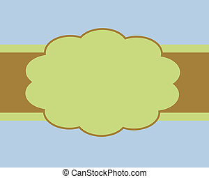 Blue Brown and Green Card Background Template