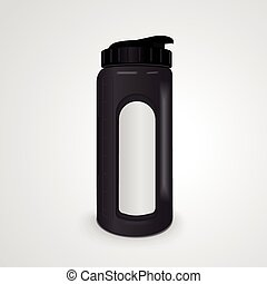 reusable water bottle isolated on white background. 3D...