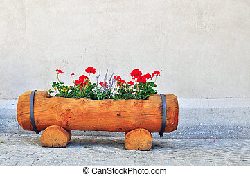 flowerbed in the street