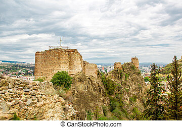 Narikala fortress in the old town of Tbilisi, Georgia.
