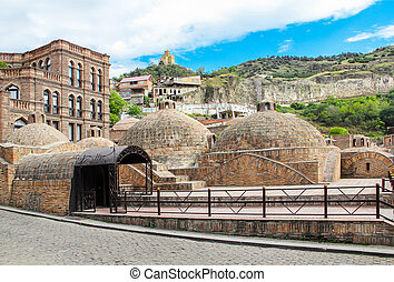 Abanotubani is the ancient district of Tbilisi, Georgia,...