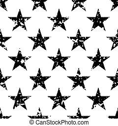 Grunge stars seamless pattern