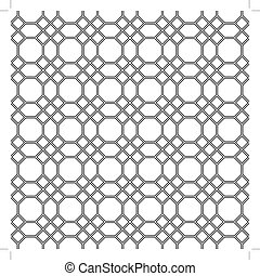 Seamless pattern of the octagon vector Octagon pattern...