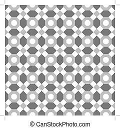 Seamless pattern of the octagon vector. Octagon pattern....