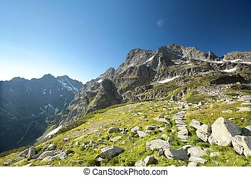 Peaks in the Tatra National Park