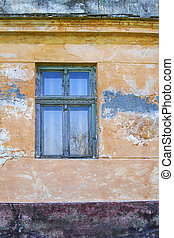 Window 7 - Window on the wall of an old house in Dobrica,...